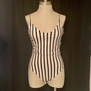 Gaze Brand Black & White Striped Bodysuit ✨